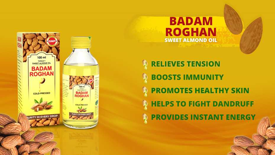 badam rogan oil for dark circles