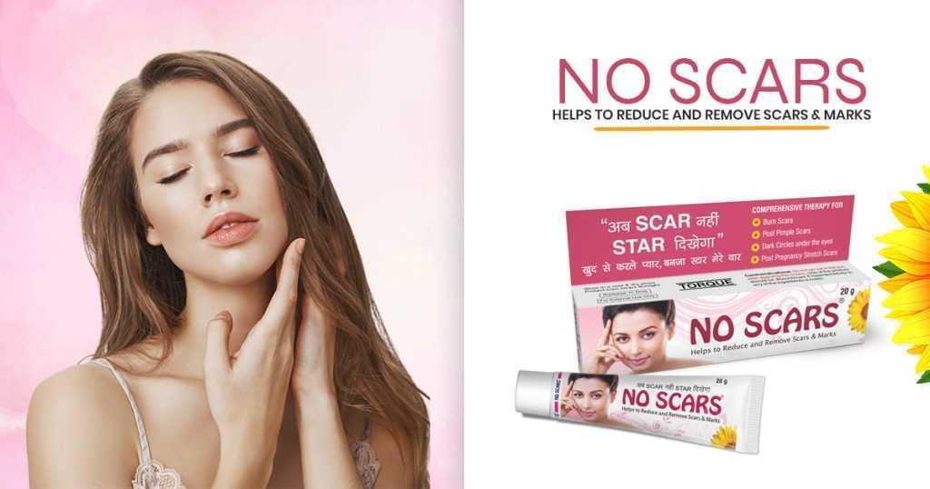 Use of no scar cream